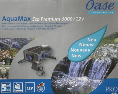 solarteichpumpe oase aquamax 6000 eco premium 12 volt. Black Bedroom Furniture Sets. Home Design Ideas